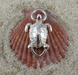 Cape Cod Convertible Bracelet Clasp  Sterling Silver Turtle Clasp
