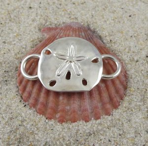 Cape Cod Convertible Bracelet Sterling Silver Sand Dollar Clasp