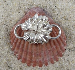 Cape Cod Convertible Bracelet Sterling Silver Hibiscus Clasp