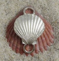 Tipos Creations   Cape Cod Jewelry: Sterling Silver Scallop Shell Clasp